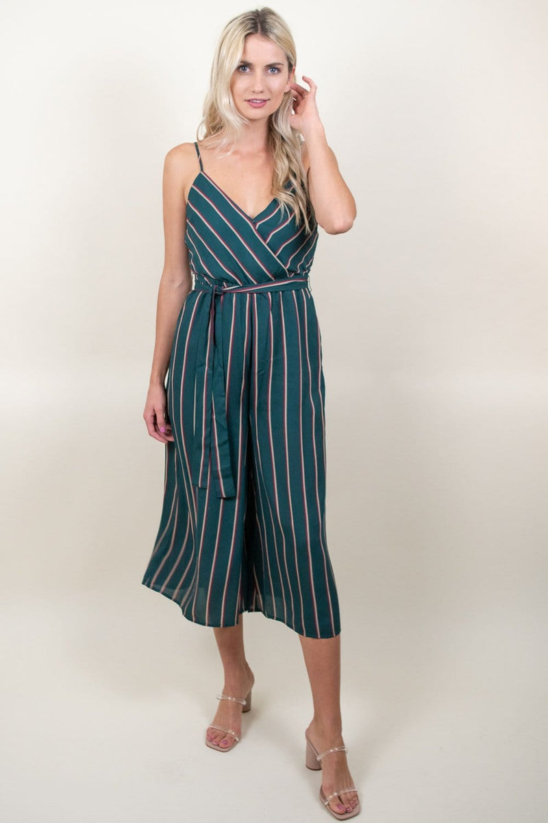 JACK By BB Dakota Cross The Line Striped Jumpsuit