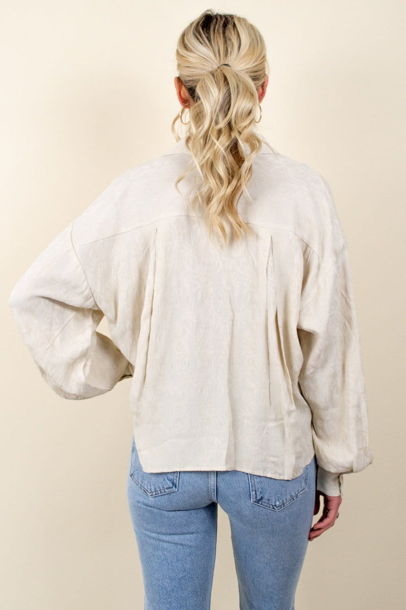 Amuse Society Maya Bay Woven Blouse Off White