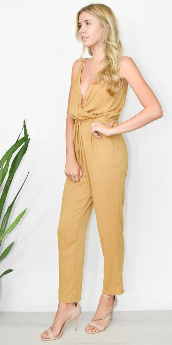 Lucy Love Malibu Ranch Jumpsuit in Golden Yellow