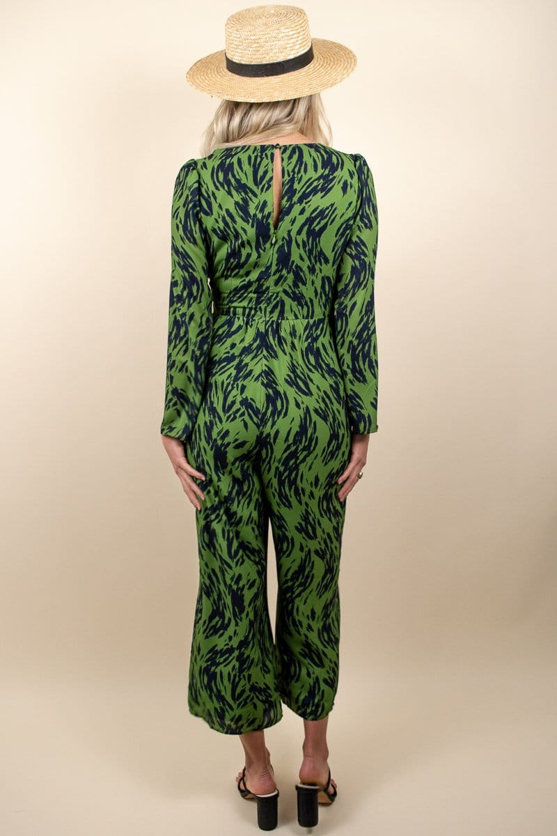Ali & Jay High Brow Jumpsuit Leaf/Navy