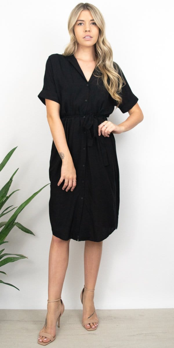 Gentle Fawn Kaysey Dress in Black Nomad Stripe