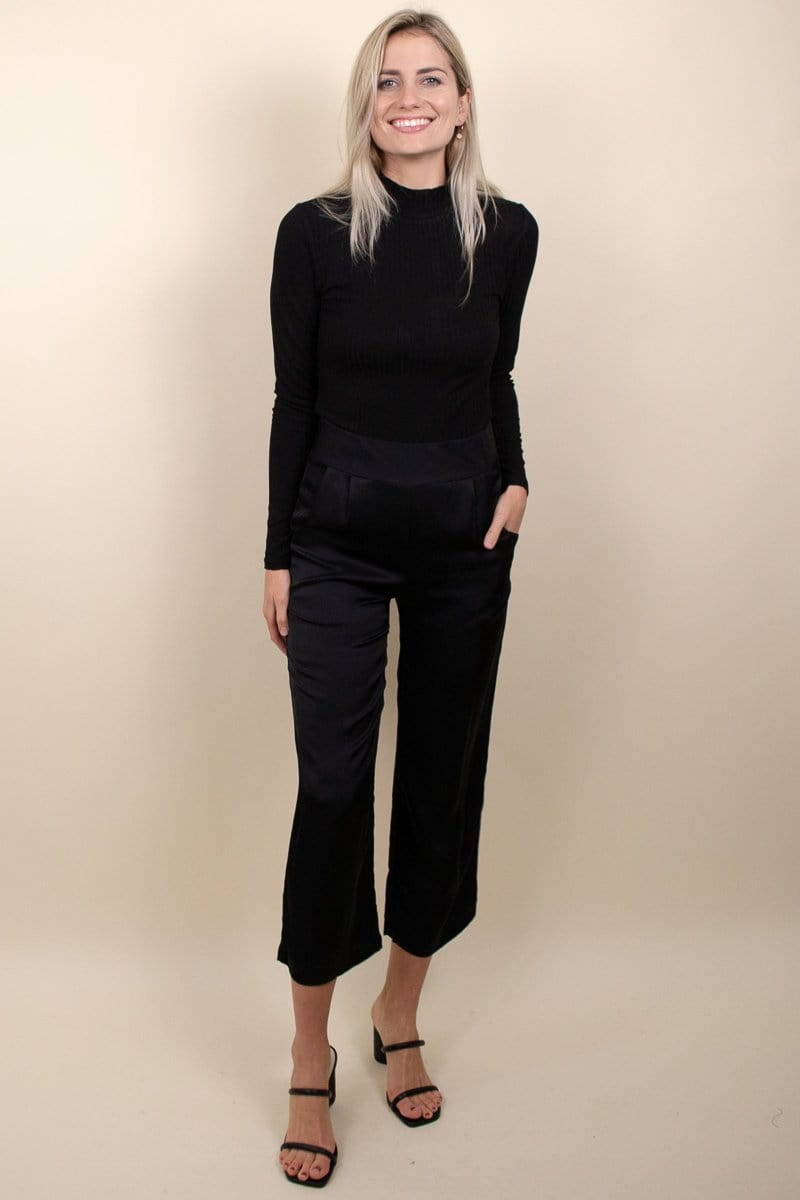 Stillwater Olsen Crop Trouser Black