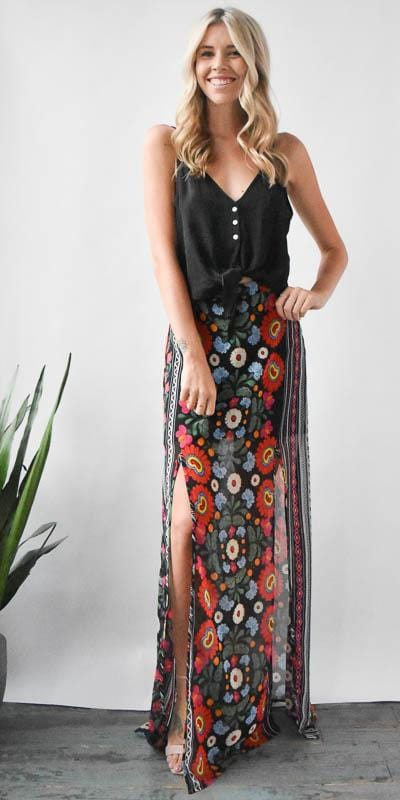 Show Me Your Mumu Mick Slit Skirt in Mexicali