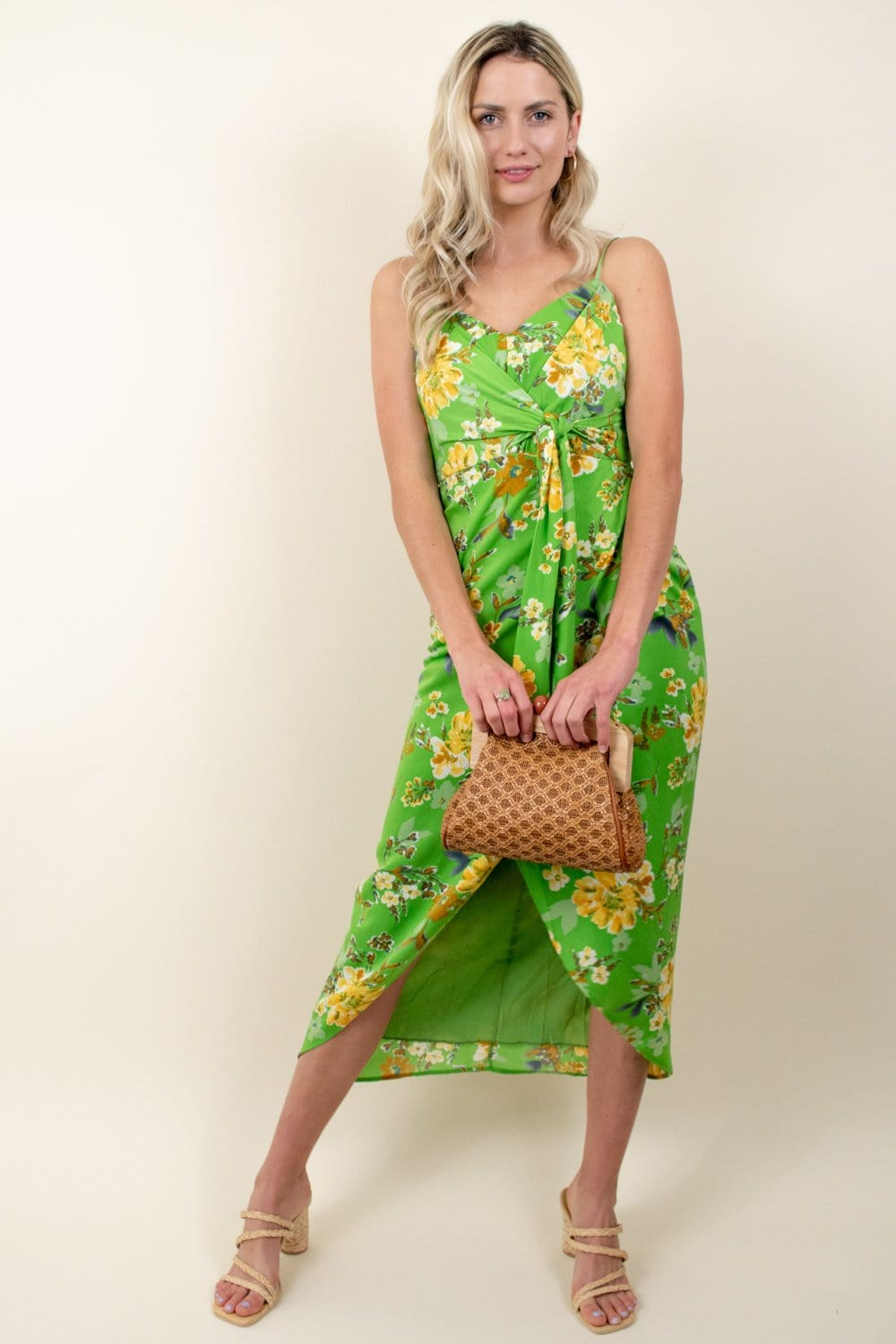 4si3nna Elsie Dress Green Floral