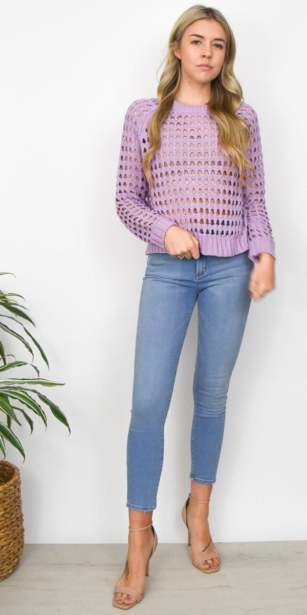 ASTR The Label Cameron Sweater in Lavender