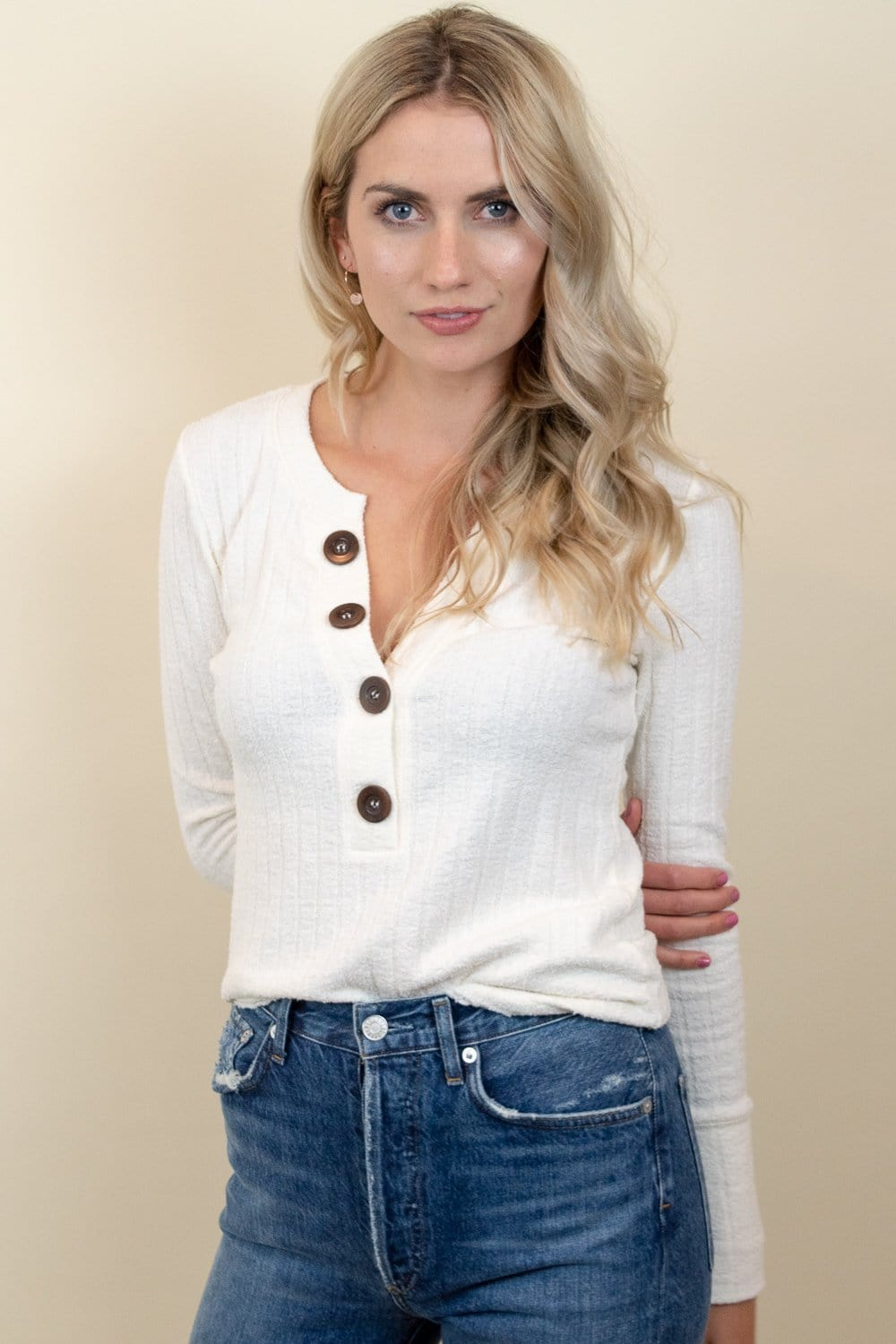 Free People Oliver Henley Ivory