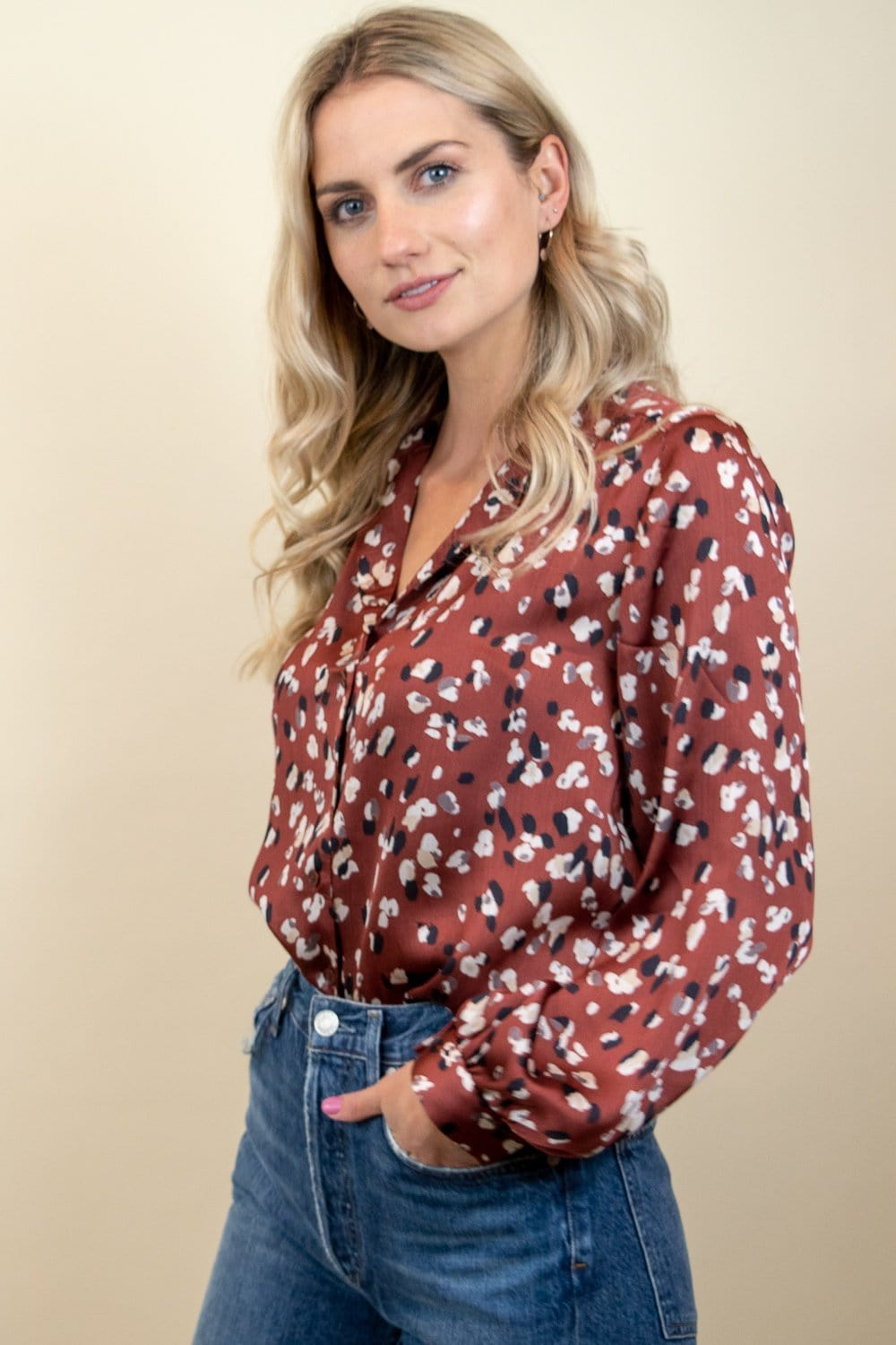 Le Rêveur Monet Printed Speckled Blouse