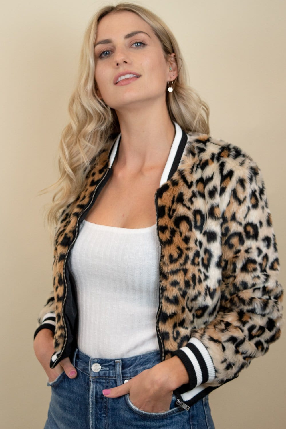 Jack by BB Dakota Cat Power Leopard Jacket