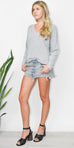 Gentle Fawn Tucker Sweater in Pewter Grey