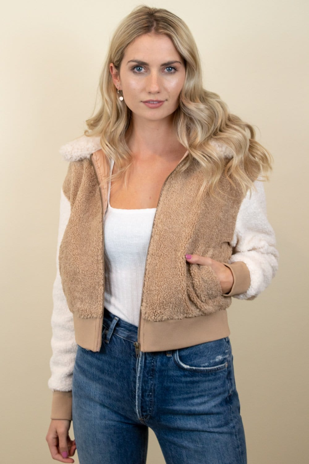 MINKPINK Mixed Fur Bomber