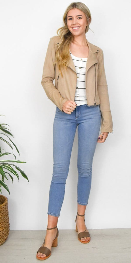 Gentle Fawn Adera Moto Jacket in Sand