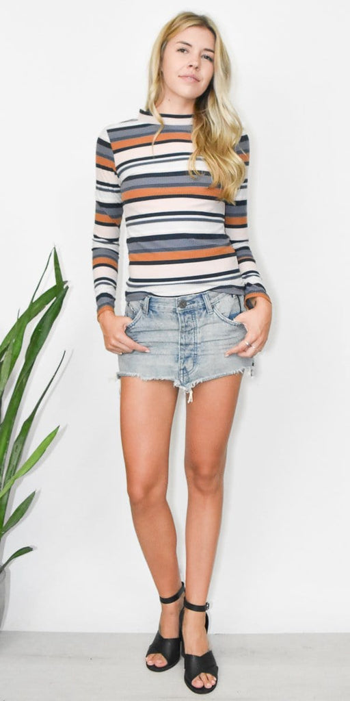 Junkyard Denim Mini Skirt