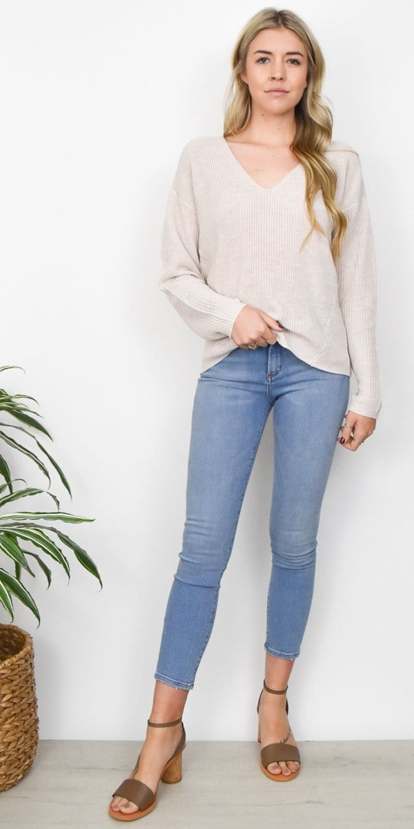 Gentle Fawn Tucker Sweater in Light Heather
