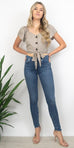 Sage the Label Gwen Blouse in Almond Milk