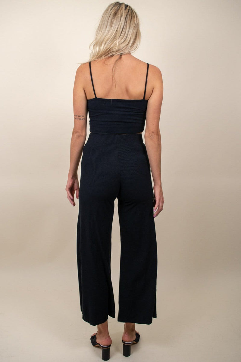 Stillwater The Rib Wide Leg Pant Black
