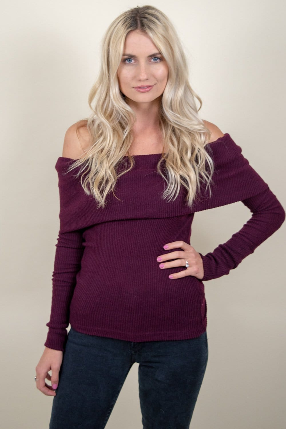 Free People Snow Bunny Off-The-Shoulder Sweater