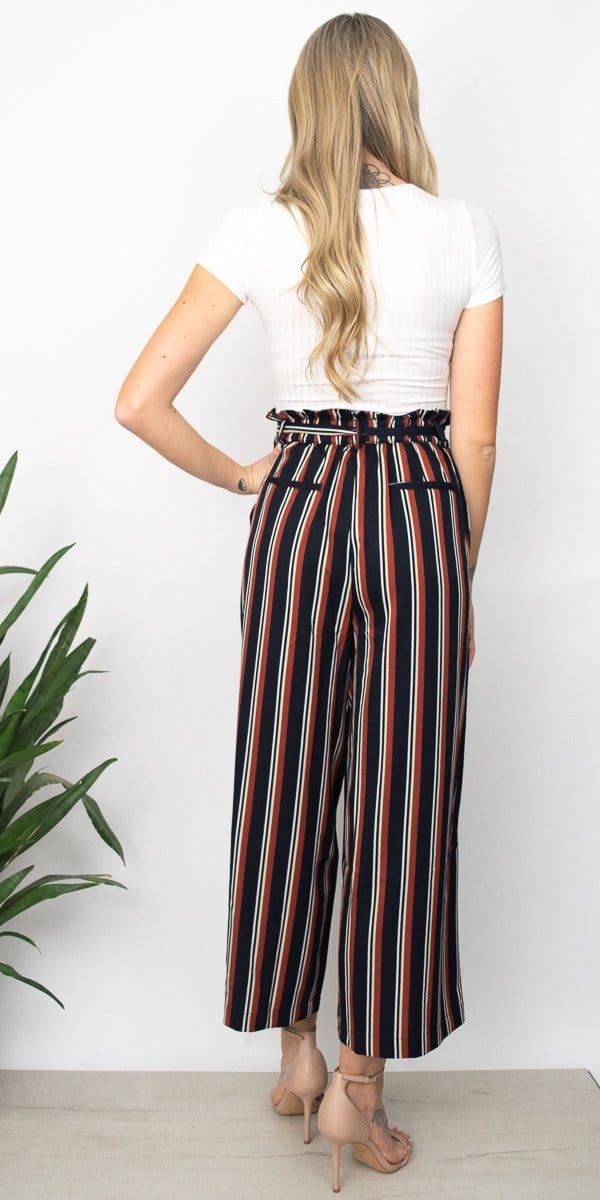 MINKPINK Stripe Culotte in Multi Stripe