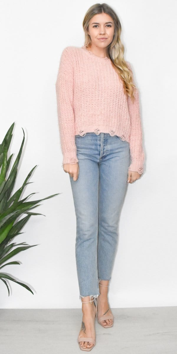 Sage the Label Little Love Sweater in Blush