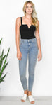 Free People Long and Lean Jean in Light Denim