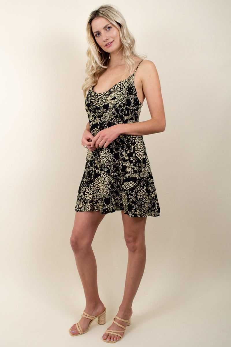 Forever Fields Mini Dress Dark Night Combo