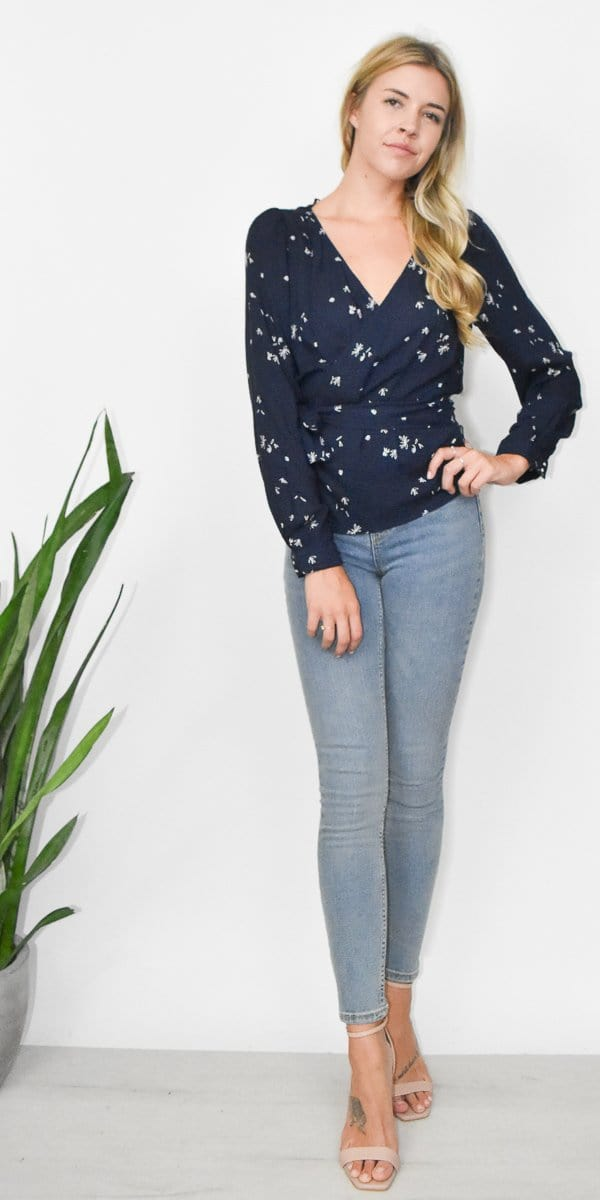 Gentle Fawn Roxanne Blouse in Navy Whisper