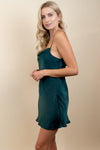 Show Me Your Mumu Sabine Slip Dress Dark Emerald
