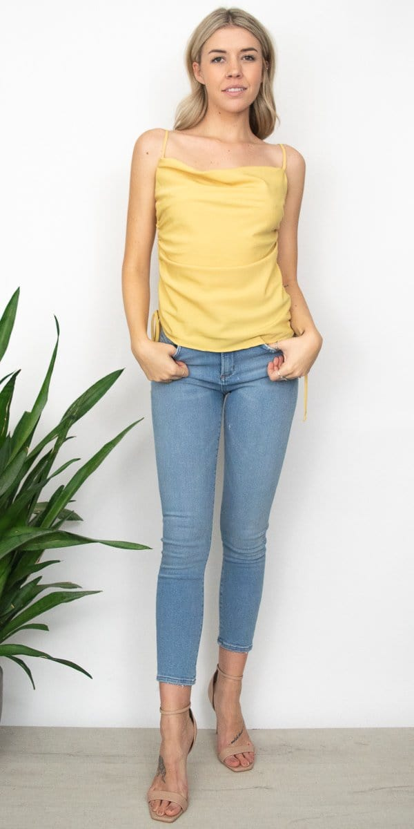 4Si3NNAI Josephine Top in Pale Mustard