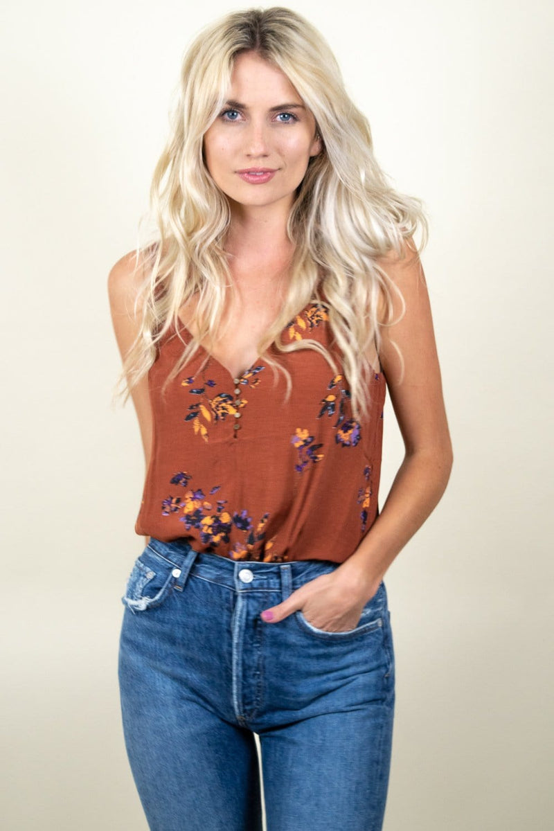 Gentle Fawn Avery Tank Cognac Climbing Floral