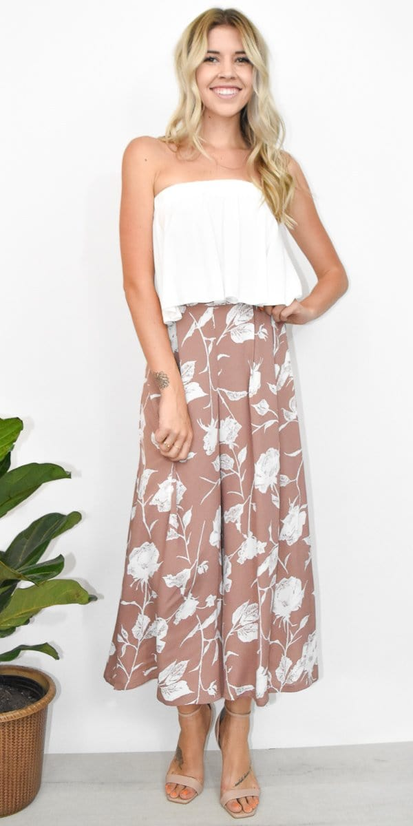 Goldyn Goldyn The Perfect Palazzo Pant in Mauve Floral