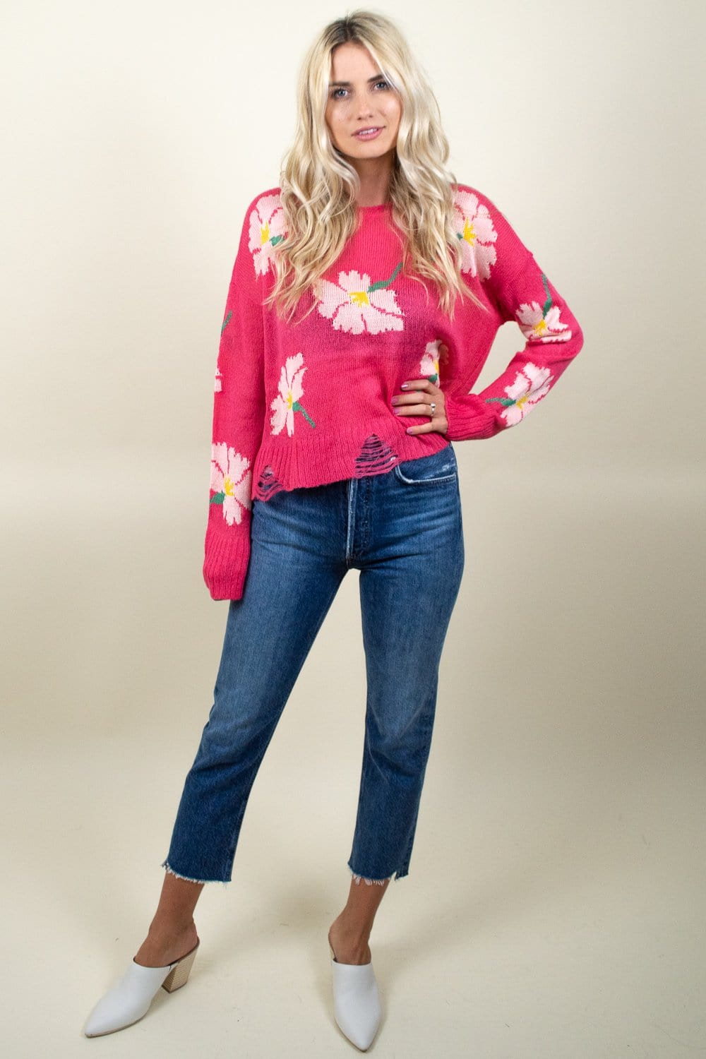 Show Me Your Mumu Seco Sweater Lovely Floral Knit