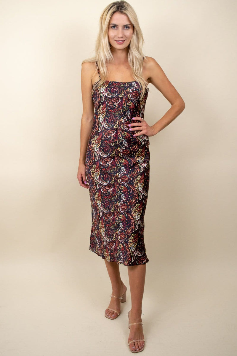 Lucy Paris Hayden Paisley Dress Black Floral