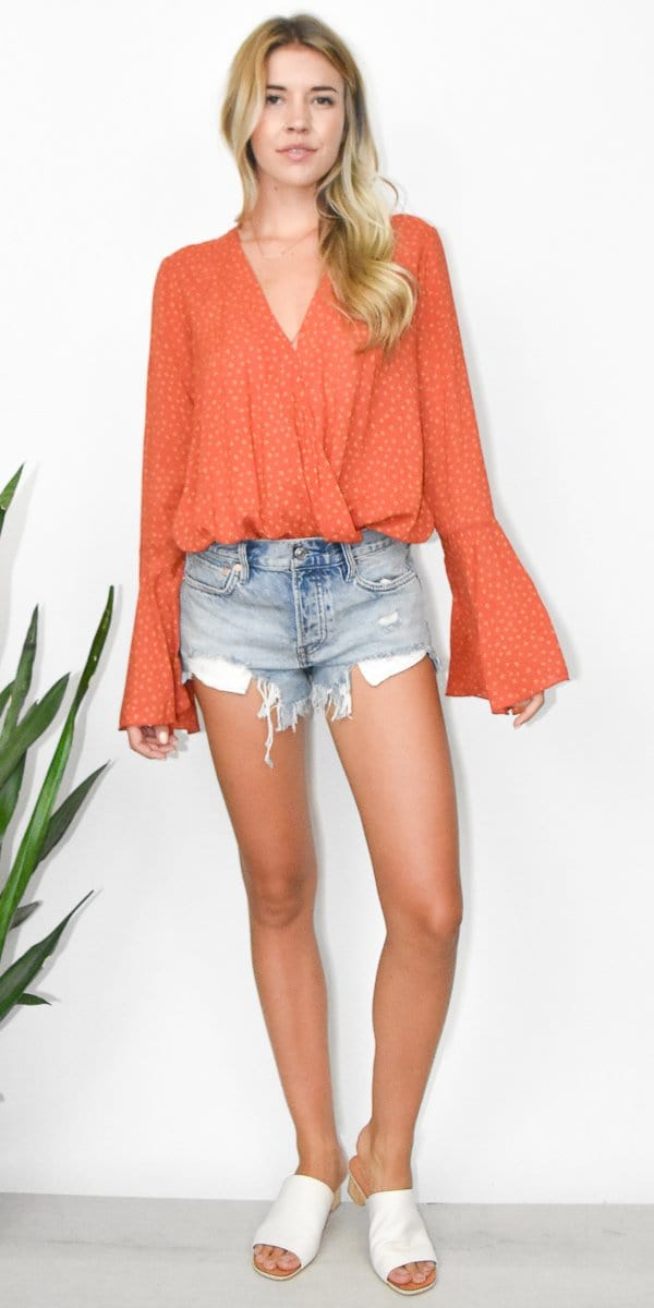 Free People Makin' Waves Bodysuit