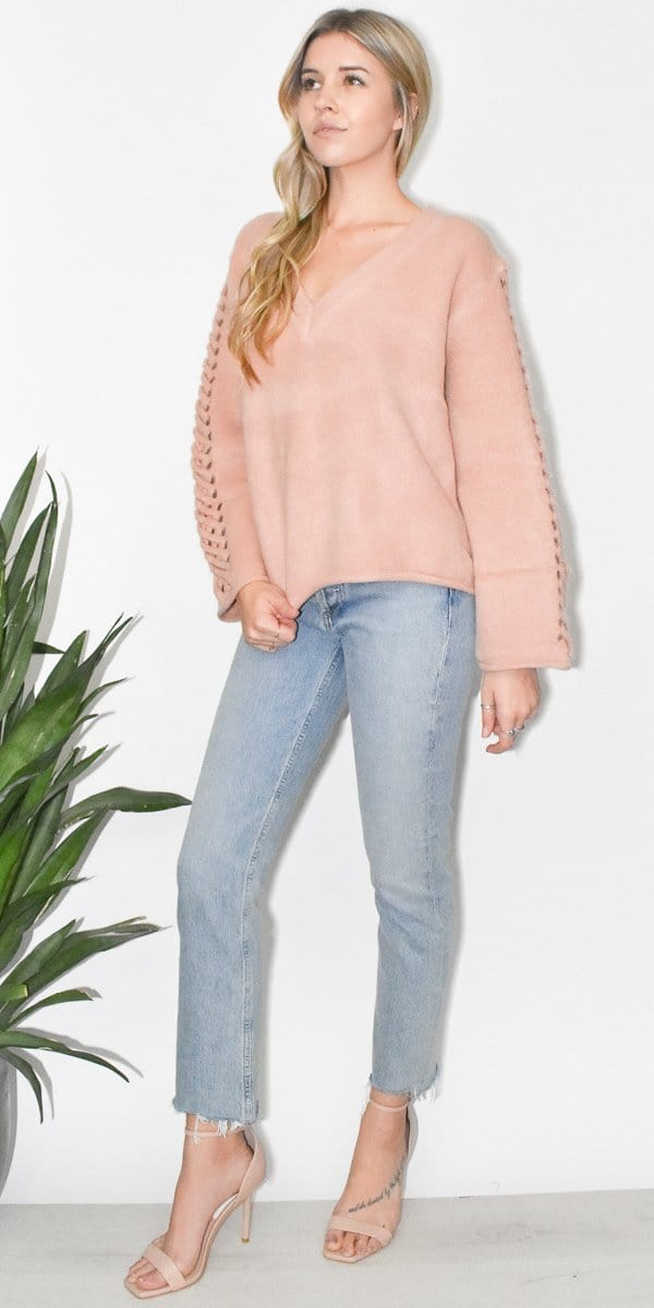 ff39cbc7d25 ... Somedays Lovin In Your Eyes Jumper in Blush Pink ...