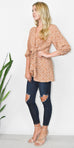 Free People Clara Tunic in Brown Floral Print