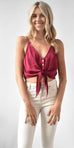 Free People Two Tie for You Brami in Raspberry