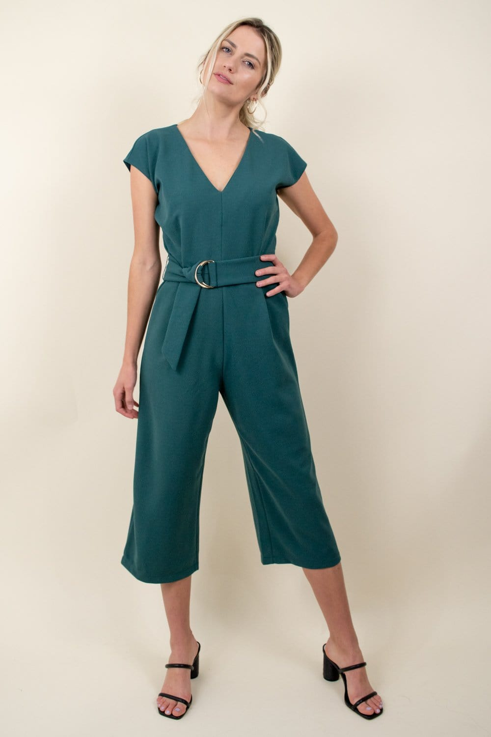 Bishop + Young Front Tie Jumpsuit Mist
