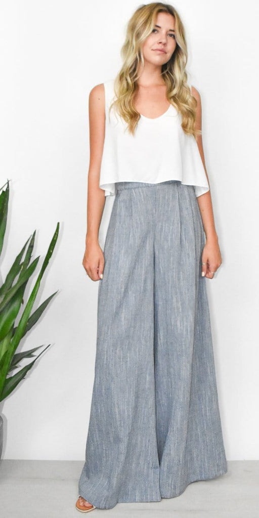 Goldyn Florence Pant in Light Chambray