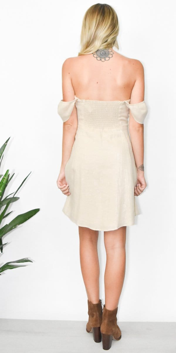 Show Me Your Mumu Sorrento Dress in Luxe Linen Sand