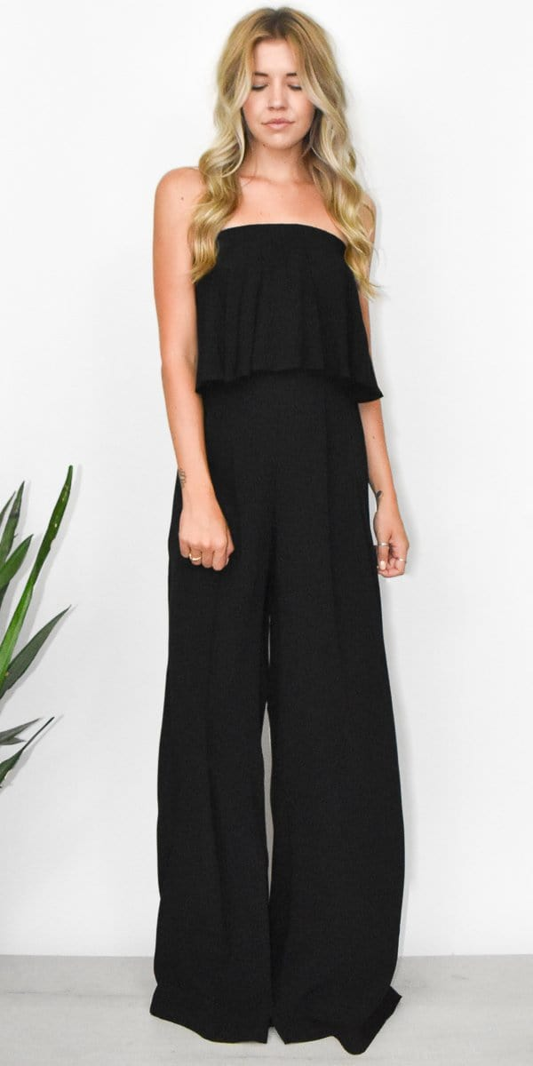 Goldyn Florence Wide Leg Pant in Black