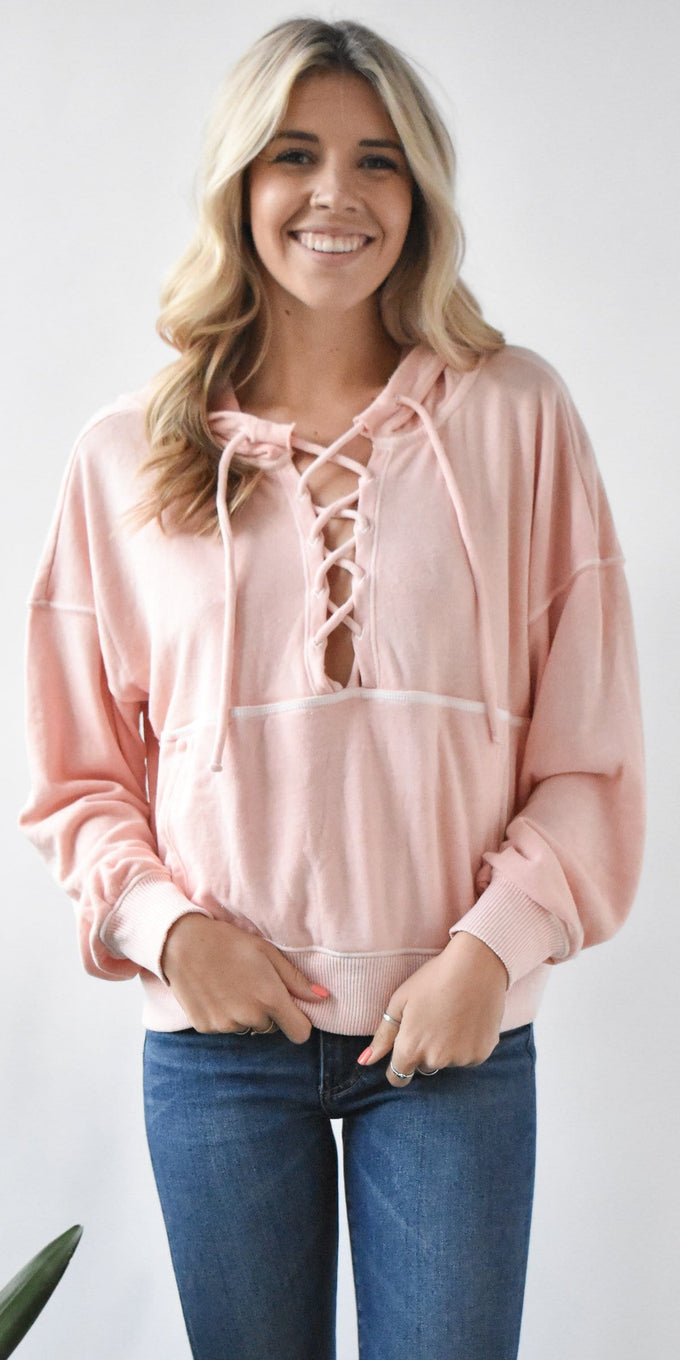 Free People Movement Believer Hoodie in Pink