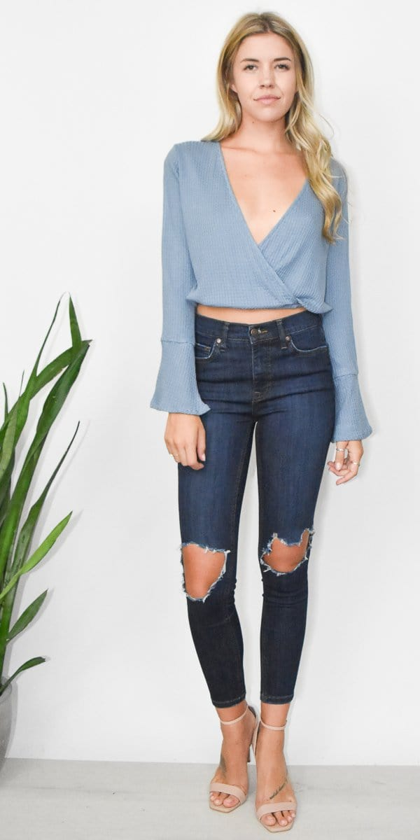 Lucy Love New You Top in Deep Sea Blue