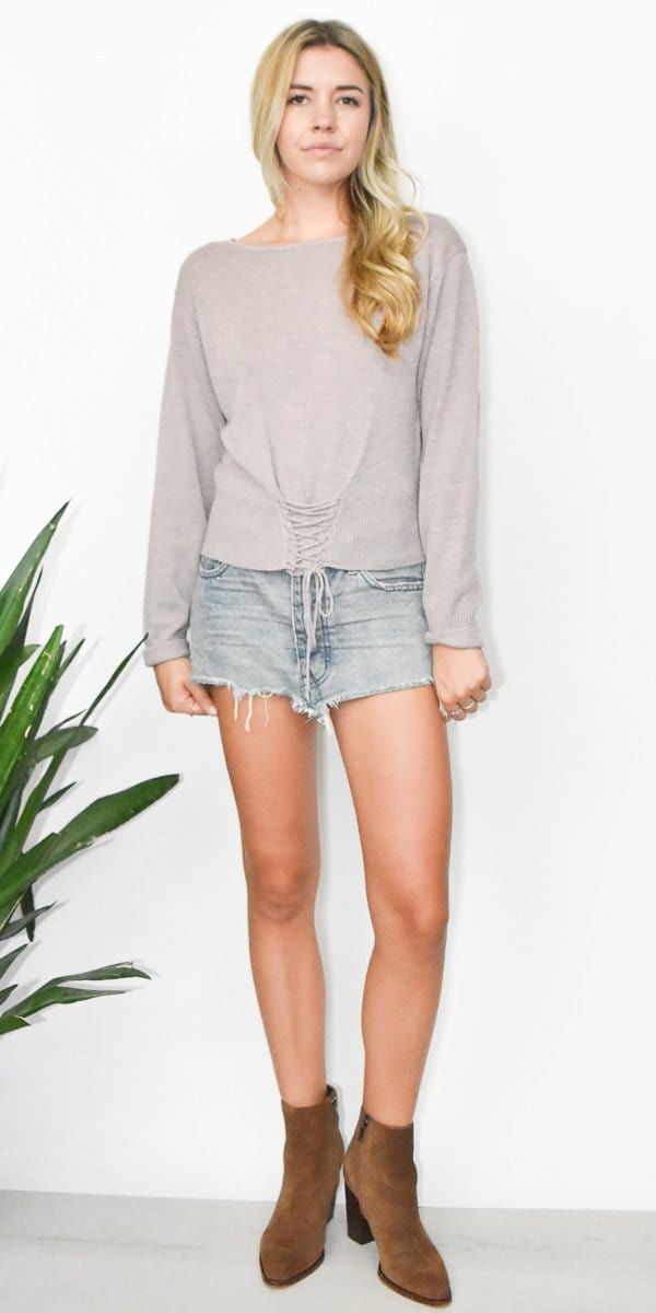Gentle Fawn Therese Sweater Top in Heather Rose