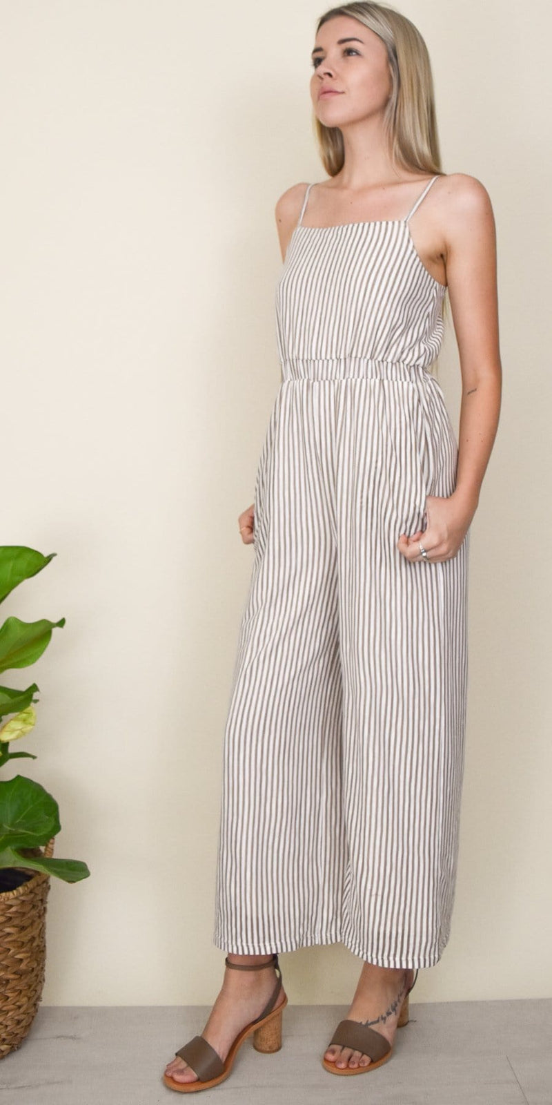 MINKPINK Striped Knit Jumpsuit