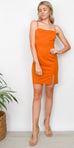 ASTR The Label Blake Dress in Amber Orange