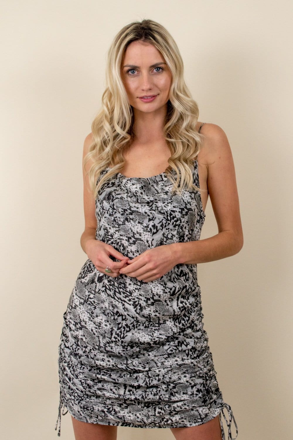 Free People Day To Night Slip Dress Silver Combo