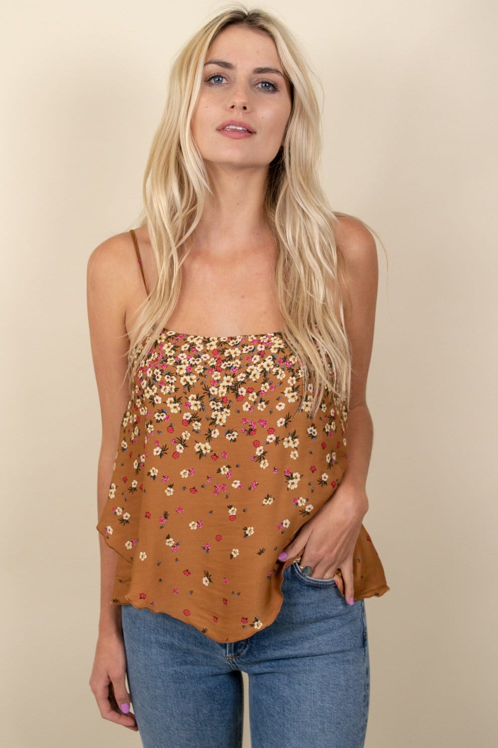 Free People Let Me Love Printed Cami