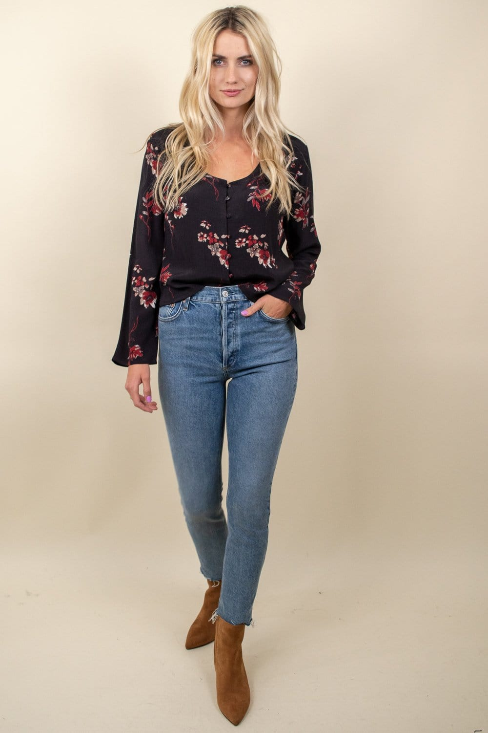 Gentle Fawn Jenara Top Raisin Climbing Floral