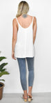 Free People Scarlett Tank in Ivory