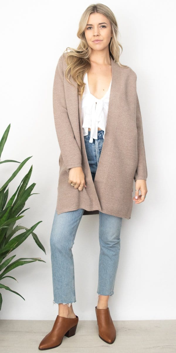 Gentle Fawn Lucas Cardigan in Heather Warm Taupe