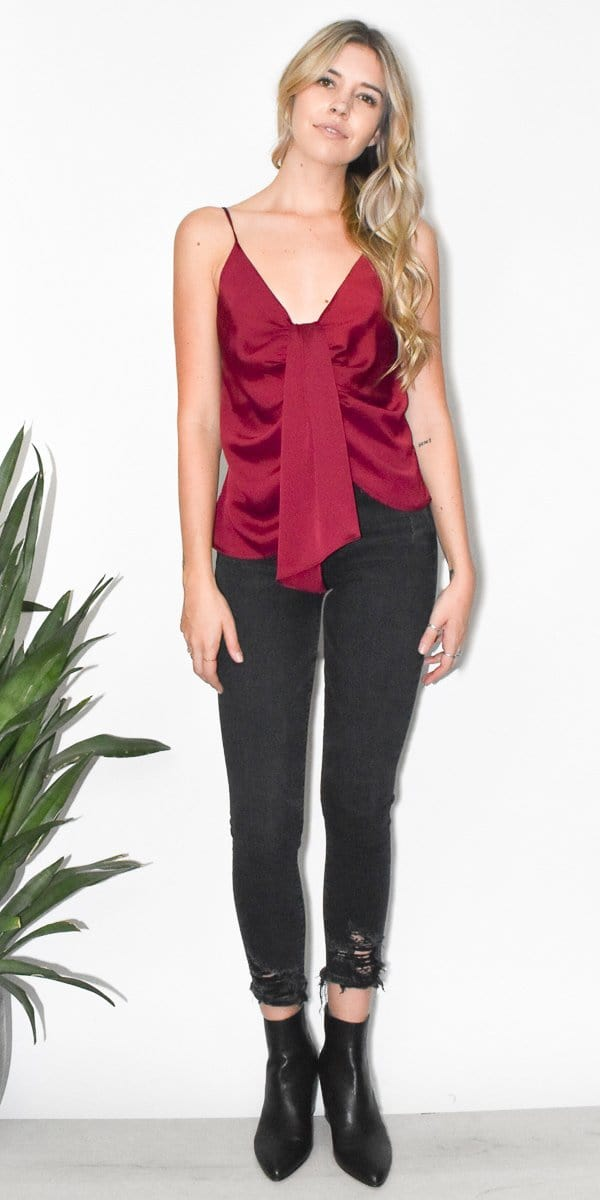 ASTR The Label Gina Top in Cabernet